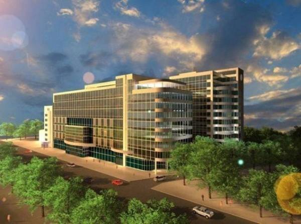 ...под офисный и оздоровительно-спортивный центр, а также строительства жилого здания отельного типа с подземным...